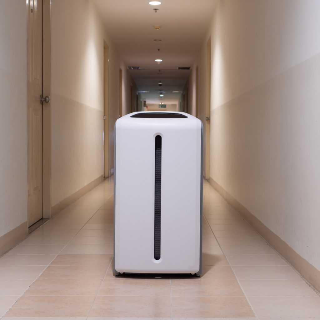 air purifier in a hallway