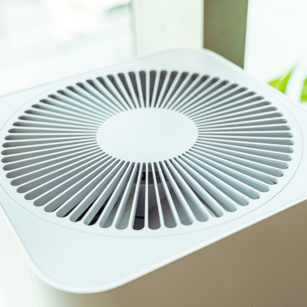 close up of an air purifier