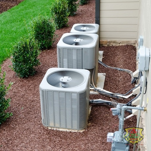 AC Condenser Units Sitting Outside