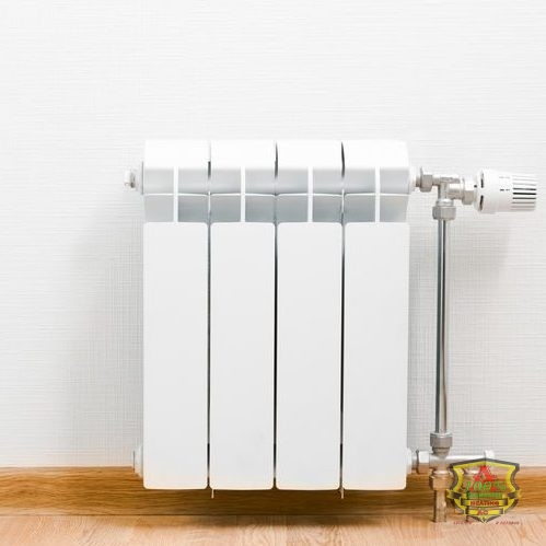 Simple Radiator Against a White Background