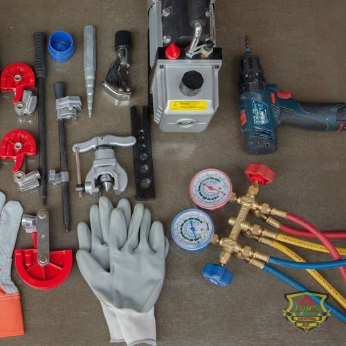 HVAC Tools Laid Out on a Table
